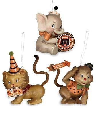Halloween Big Top Animal Ornaments - Retro Circus - Bethany Lowe - Halloween Animals