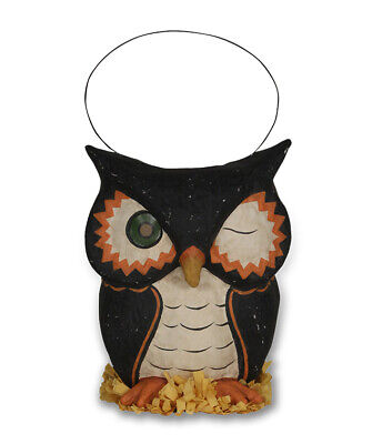 "NEW 2019 Bethany Lowe Designs Halloween ""Owl Bucket"" TJ8659"