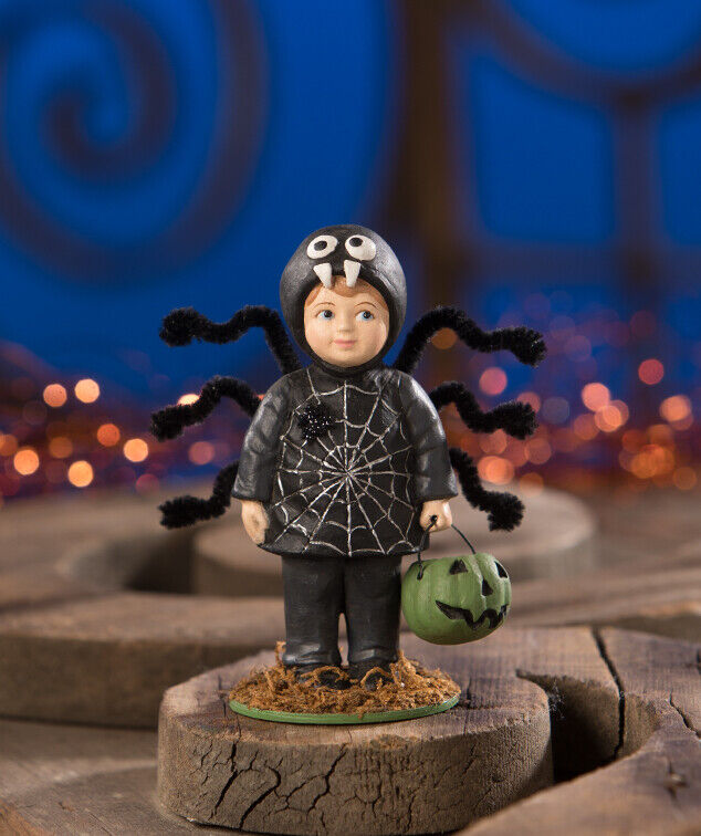 Bethany Lowe Halloween Trick or Treater Webster Spider Figurine Decoration