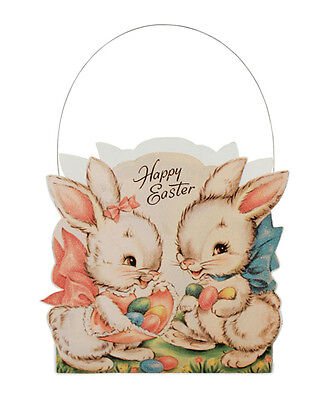 Bethany Lowe Sweet Easter Bunnies Basket New LC5447
