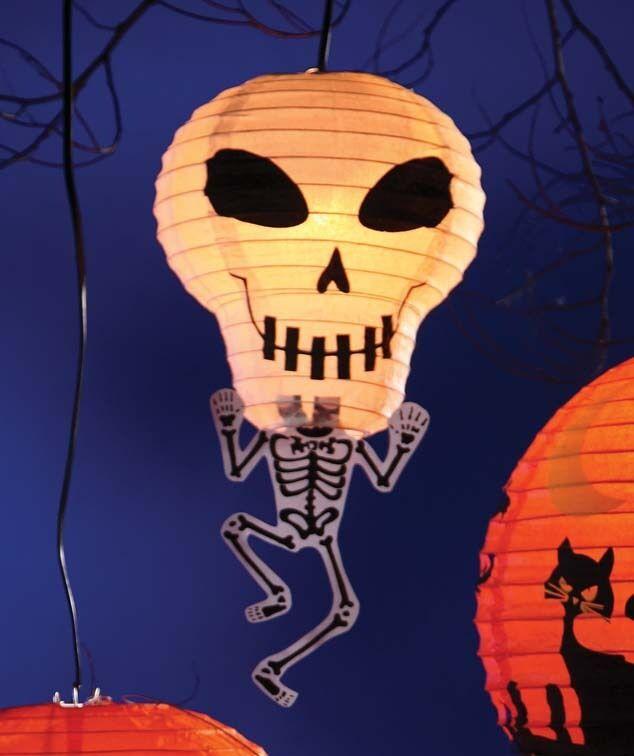 Skelly Skeleton Lantern w Light & Cord Halloween Bethany Lowe RL0448