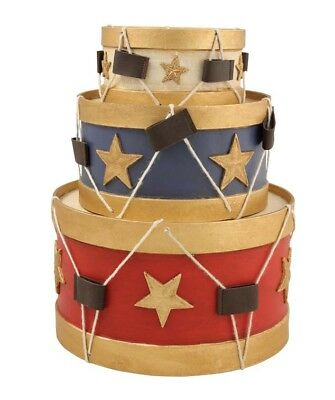 Bethany Lowe - Americana Drums- 4th of July~ Set of 3!