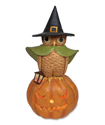 Bethany Lowe Halloween Witchy Owl On Pumpkin New TJ2407 Large Size Closeout
