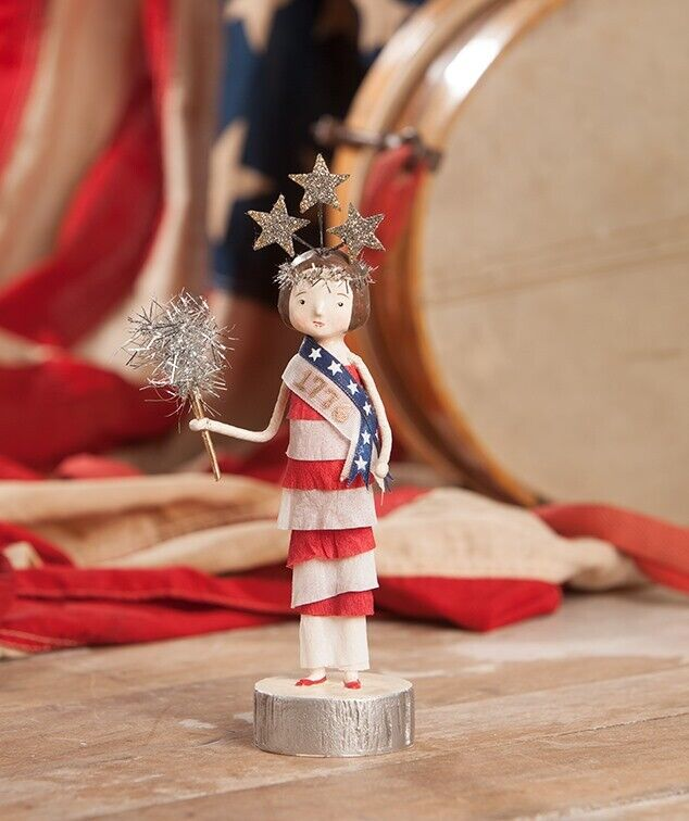 Bethany Lowe Americana Miss 1776 Patriotic Female Figure Michelle Lauritsen Dsgn