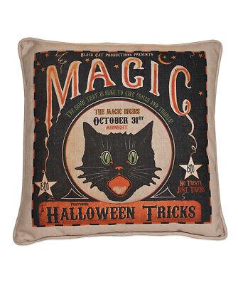 "Bethany Lowe Designs ""Magic Halloween Tricks Pillow"" RL7299"