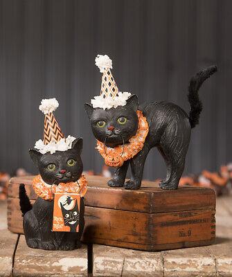 Bethany Lowe Black Cat Soiree TJ9517 Set of Two