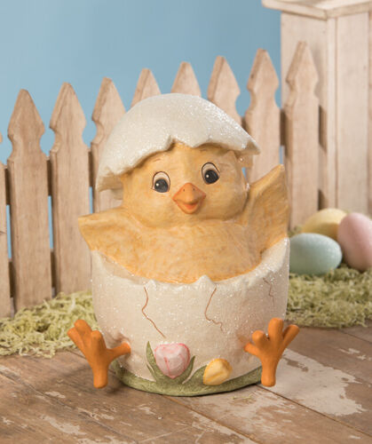 Bethany Lowe Easter Spring Just Hatched Chick In Egg New TJ9489 Sale!!