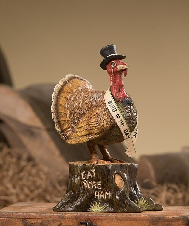 Bethany Lowe Thanksgiving Turkey Bird of the Day Figure TD8539