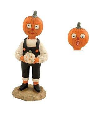 Two Faced Halloween (Halloween Two Faced Pumpkin Boy Figurine Allen Cunningham Bethany Lowe)
