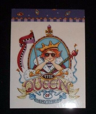 """Magnet w/Mary Engelbreit art """"The queen of everything"""" girl with crown"""