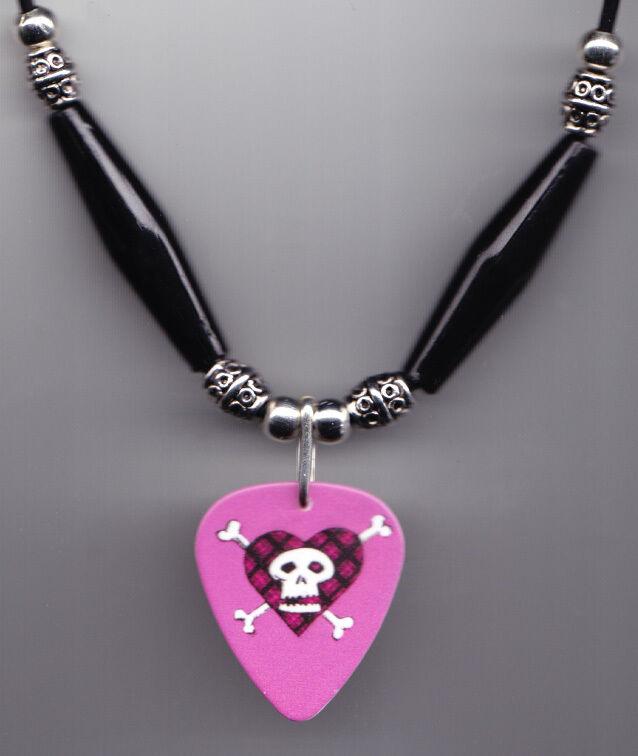 Avril Lavigne Pink Guitar Pick Necklace