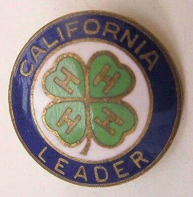 4H California Leader Vintage Lapel Pin/Tie Tack gift