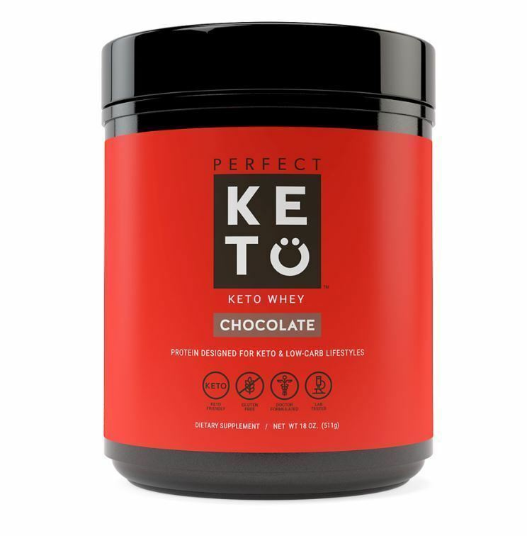 Perfect KETO Chocolate Whey Protein Powder Isolate w/MCT 100