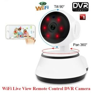 Security Indoor IP HD DVR Camera IR WiFi remote-pan/tilt