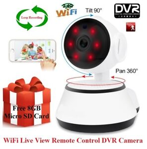 Simple Security Wireless WiFi live view Pan/Tilt IR DVR Camera