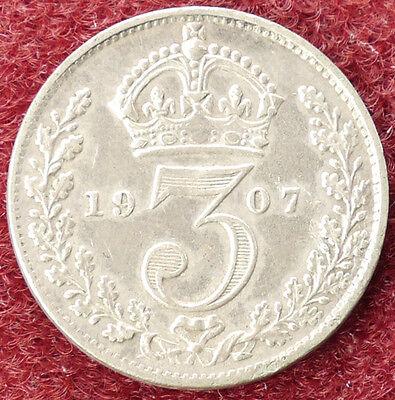 GB Threepence 1907 (D0205)