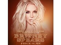 2 x BRITNEY SPEARS TICKETS - THE O2 02 - LONDON - SATURDAY 25 AUGUST - FACE VALUE £100 PER TICKET