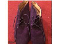 Womans purple ankle boots size 4