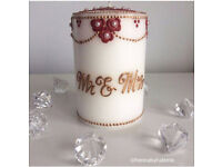 PERSONALISED HENNA DESIGNS ON CANDLES/WINE GLASSES/CANVASES! GREAT TO GIVE AS GIFTS