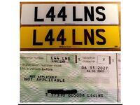 Private/cherished number plate car/ van L44LNS