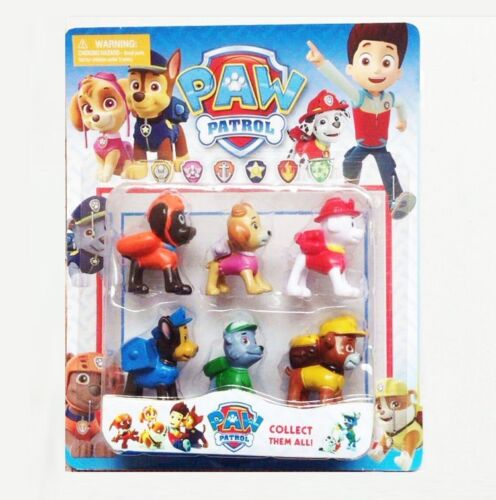 6X/LOT Puppy Paw Patrol Toys Action Figures Plastic Puppy Patrol Dog Kids Gifts