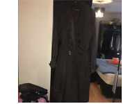 Zara black long coat