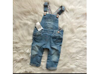 Baby girl Dungarees NEXT BRAND NEW 3-6 months