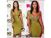 Green bandage midi dress size 10