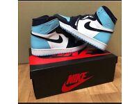 Nike Air Jordan 1 Retro UNC Patent BLUE CHILL UK 8