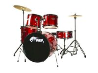 Drum kit for sale 1 year old excellent condition paid £250 want £100 ono