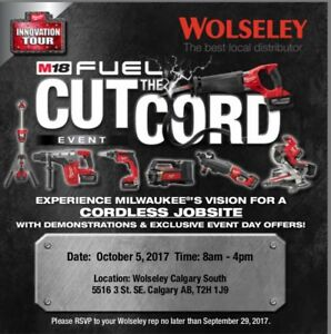 Milwaukee - Sales event - MASSIVE BLOWOUT ONE DAY ONLY!