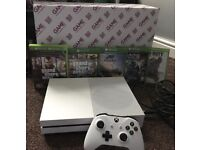 XBOX ONE S 500GB, 7 GAMES BUNDLE, MINT, WITH EXTRAS!!!