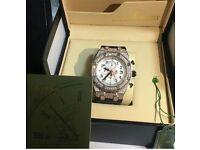 Half diamond AP watch