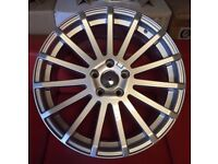 """18"""" BRAND NEW FORD RS SILV STYLE ALLOY WHEELS TO FIT VOLVO JAGUAR FORD RENAULT"""