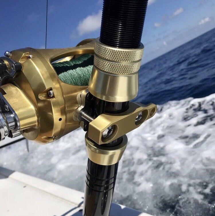 PENN International 20 30 50 70 Reel Clamp Anodized Aluminum Fishing Engraved