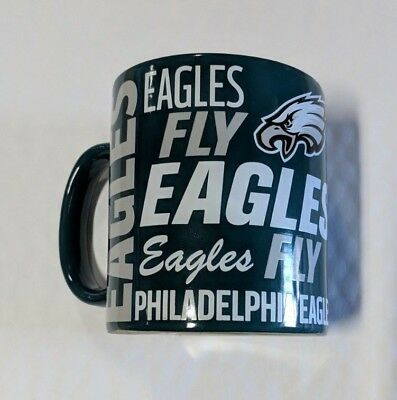 Philadelphia Eagles Mug (Philadelphia Eagles Coffee Mug Fly Eagles Fly Team Color Logo - 14 oz NEW Slogan )