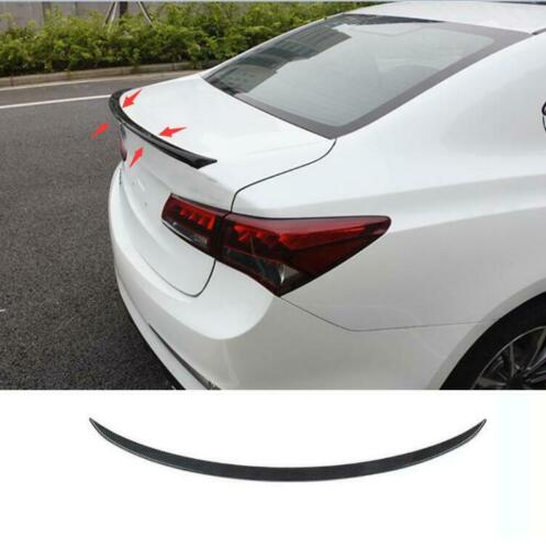 ABS Carbon Fibre Rear Tail Trunk Spoiler Wing Lip Trim For
