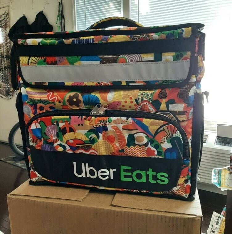 Uber Eats Delivery Insulated Backpack LimitedEdition Artist Series Bag (Melanie)