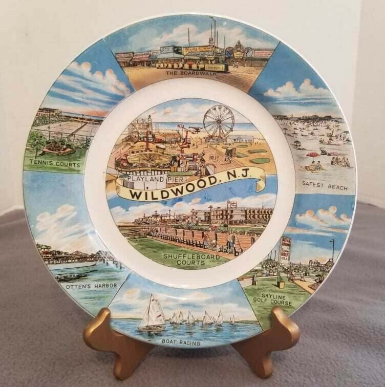 Wildwood New Jersey Collectable Souvenir Travel Plate