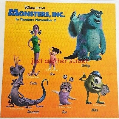 Disney Monsters Inc Mike Sulley Boo Stickers Party Favors 1 Sheet Promo Randall](Promo Halloween Party)