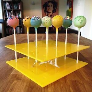 Cake-Pop-Stand-Quadrato-Giallo-Misure-Standard-16-Buco-o-Grande-32-buco