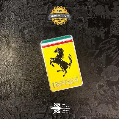 Ferrari 3D Badge Limited Edition Aluminium Emblem F1 Scuderia GTO 458 Italia FF