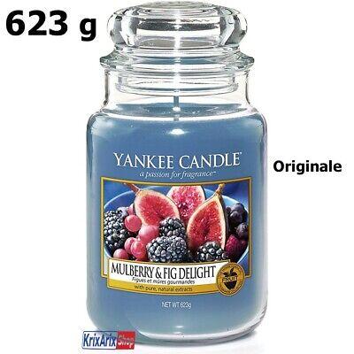 YANKEE CANDLE in Giara Grande Candele Profumate Blu Delizia Al Gelso e Ai Fichi