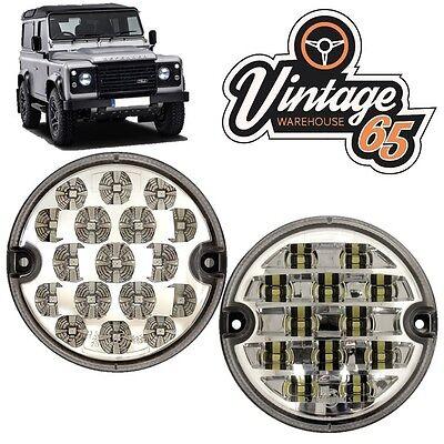 Land Rover Defender 95mm LED Clear Rear Fog Lamp Reversing Light Upgrade Kit