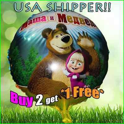 A Cute Masha and the Bear Celebration Happy Birthday Party Balloon Supply - Masha And The Bear Party Supplies