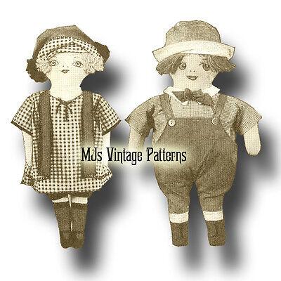 Roaring 20s Francine Flapper & Francis Farmer ~ a Vintage Cloth Doll Pattern