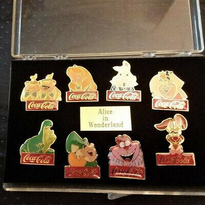 Disney Coca Cola Alice in Wonderland, Vintage Set of 8 pins