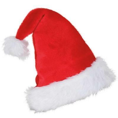 Nikolaus Mütze aus edlem Plüsch Weihnachtsmann Santa Claus Weihnachten Advent