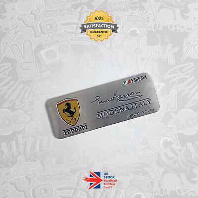 F1 Enzo Ferrari Signed Emblem Limited Special Edition 3D Badge Modena 458 Italia