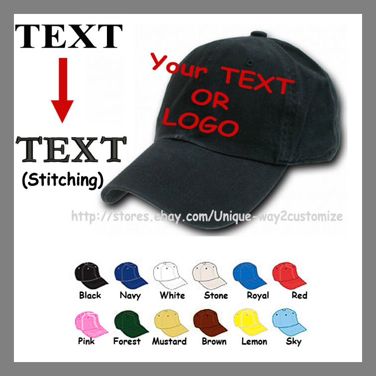 polo Personalized Custom Embroidery Polo Cap hat logo